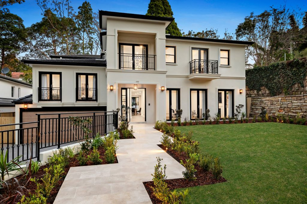 Wahroonga Luxury Home Construction Front